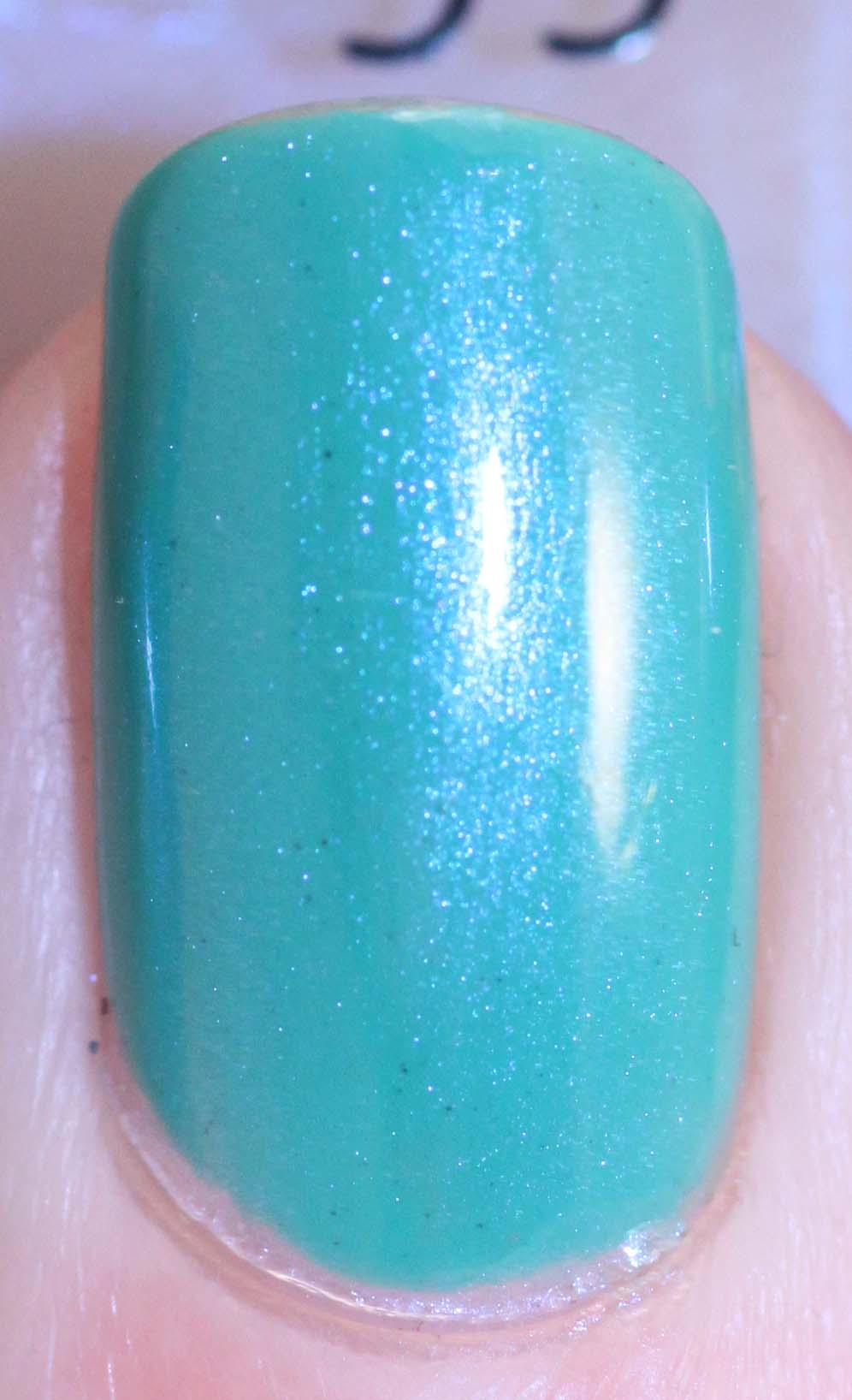 L.A. Girl Disco Brites - Turntable w CND Ice Blue Shimmer macro