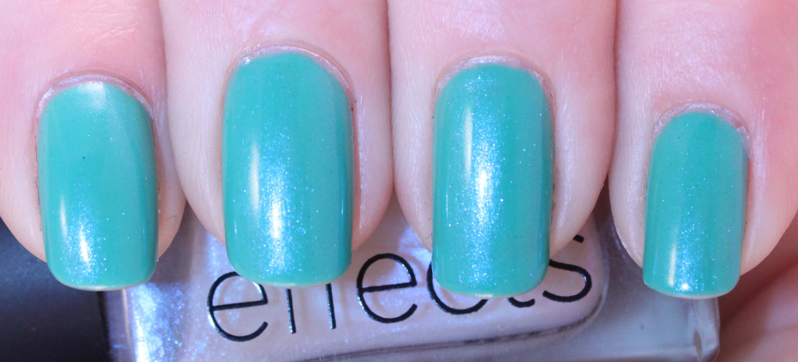 L.A. Girl Disco Brites - Turntable w CND Ice Blue Shimmer