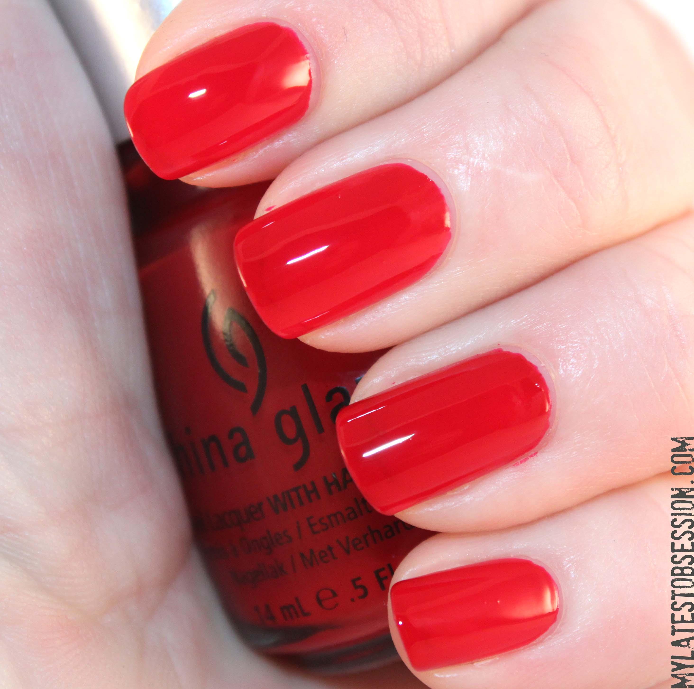 China Glaze Nail Polish Paint The Town Red